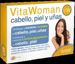 Vita Woman Cabello Piel Y Uñas 30 Comp. - Eladiet