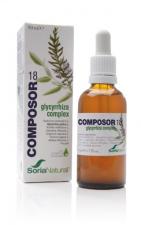 Soria Natural Composor 18 Glycyrrhiza Complex-Gastroulcero 50Cc.
