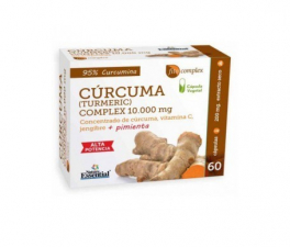 Nature Essential Cúrcuma 95%+Jengibre+Pimienta+Vit C 60 Cápsulas - Farmacia Ribera