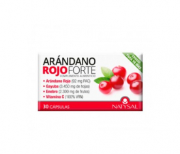 Natysal Arándano Rojo Forte 30 Cápsulas - Farmacia Ribera