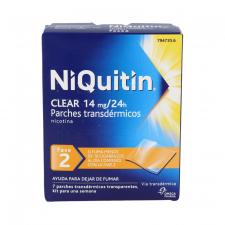Niquitin Clear 14 Mg/24 H 7 Parches Transdermicos 78 Mg