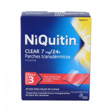 Niquitin Clear 7 Mg 24 H X 14 Parches