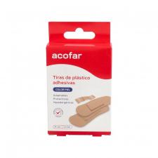 Acofar Tiras Plast Col Piel 24