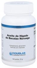 Aceite de Higado de Bacalao Noruego 401 Mg 100 perlas Douglas