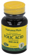 Acido Folico 800Mcg 90 Comprimidos Nature'S Plus
