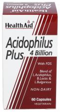 Acidophilus Plus (4.000 millones) 60 Cápsulas - Health Aid
