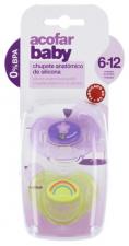 Acofar Baby  Chupete Silicona T Anatomica 3-6 Me - Varios