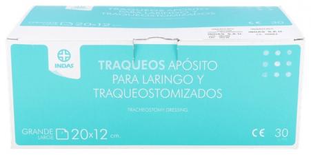 Aposito Esteril Traqueal Traqueos 30 U 20X12