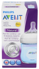 Avent Biberón Natural Recién Nacidos Azul 125 Ml 1 Unidad - Farmacia Ribera