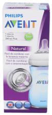 Avent Biberón Pp Natural Azul 1 Unidad - Farmacia Ribera