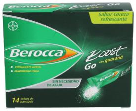 Berocca Boost Go Guaraná Cafeina Minerales Vitaminas Rendimiento 14 sobres - Farmacia Ribera