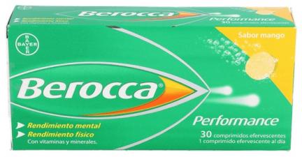 Berocca Performance Mango Efervescentes Vitaminas Rendimiento 30 efervescentes - Farmacia Ribera