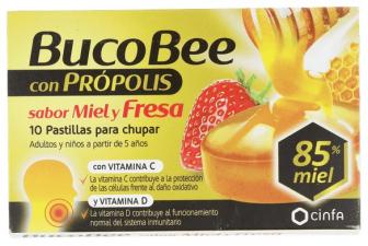 Bucobee Miel Fresa Propolis 12 Pas - Cinfa