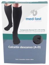 Calcetin Medilast Descanso Negro Mdno - Farmacia Ribera