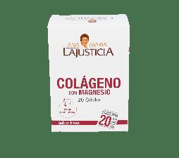 Colageno Magnesio Lajusticia Fresa 20 Sticks 5 G