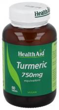 Cúrcuma (Curcuma longa) 750 mg 60 Comprimidos - Health Aid