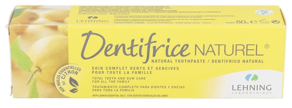 Dentrifico Natural Limon Lehning 80Grs