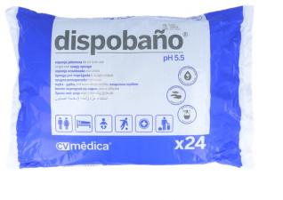 Dispobaño Esponja Enjabonada Desechable 24 Unidades