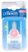 Dr.Browns Tetina Estandar Prematuros Silicona 2 Unidades - Farmacia Ribera
