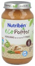 Ecopotito Nutribén Verduras de la Huerta y Pavo 250 Gr.
