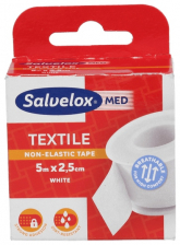 Esparadrapo Salvelox Text Blanco 5X2,5