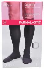 Farmalastic Calcetin Antibacteriano Compresión Normal Talla Mediana Negro - Farmacia Ribera