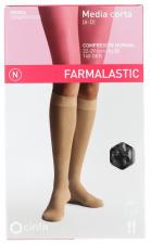 Farmalastic Media Corta (A-D) Compresión Normal Talla Grande Negro - Farmacia Ribera