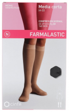 Farmalastic Media Corta (A-D) Compresión Normal Talla Reina Plus Negro - Farmacia Ribera