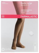 Farmalastic Media Larga Blonda (A-F) Compresión Normal T. Pequeña Blanca - Farmacia Ribera