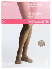 Farmalastic Media Larga Blonda (A-F) Compresión Talla Pequeña Camel - Farmacia Ribera