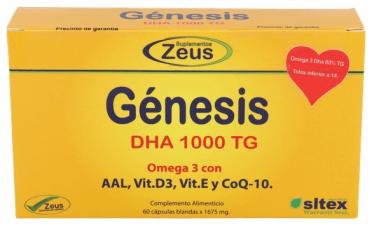 Genesis Dha Tg 1000 Omega-3 60 Cápsulas - Zeus