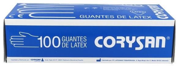 Guantes Corysan Latex T-G 100 U