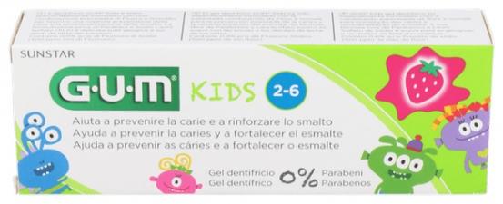 Gum Kids Pasta Dental Fresa 50 Ml - Varios