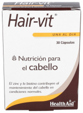 Hair-vit 30 Cápsulas - Health Aid