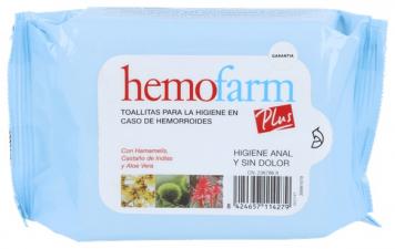 Hemofarm Plus Hemorroides 40Toallitas