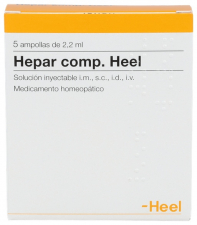 Heel Hepar compositum 5 ampollas 2,2 Ml.
