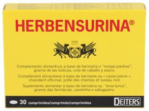 Herbensurina Renal 30 Comp - Varios