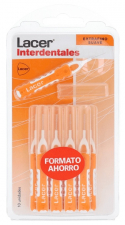 Interdental Recto Extrafino Suave 10 Unidades (Naranja) Ahorro - Lacer