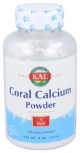 Coral Calcium Powder Polvo 225Gr Solaray