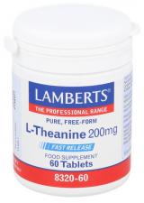 L-Teanina 200 Mg 60 Tabletas Lamberts