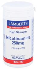Lamberts Nicotinamida 250 Mg. 100 Tabletas