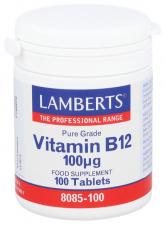 Lamberts Vitamina B12 100Ug 100 Tabletas