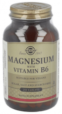 Magnesio Con Vit B6 250 Tabletas Solgar - Solgar