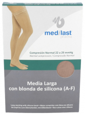 Media Larga (A-F) Compresión Normal Medilast Banda De Silicona T- Egde - Medilast