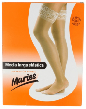 Media Maries Larga Blonda Compresion Normal Negra T-5 - Laboratorios Milo