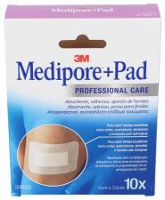 Medipore+Pad 5 Cm X 7,2 Cm 10 Apósitos - 3M