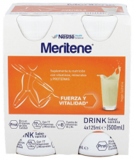 Meritene Activ Vainilla 125 Ml 4 Botellas