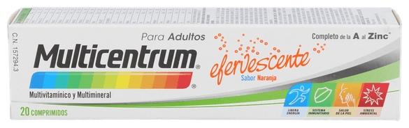 Multicentrum con Luteina 20 Comprimidos Efervescentes