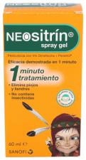 Neositrin 1 Spray Gel Liquido Antipiojos 60 Ml - Sanofi-Aventis