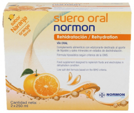 Normon Suero Oral Naranja 250 X 2U - Varios